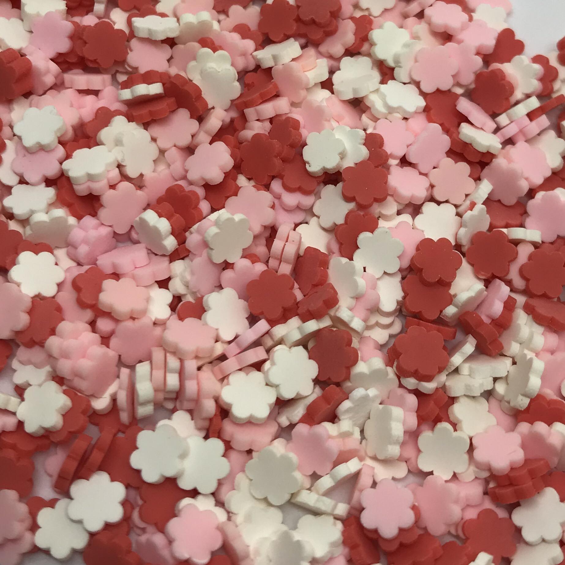 Image of   Blomster Sprinkles Rød, Hvid & Lyserød (køb 3 stk. betal for 2 stk.)