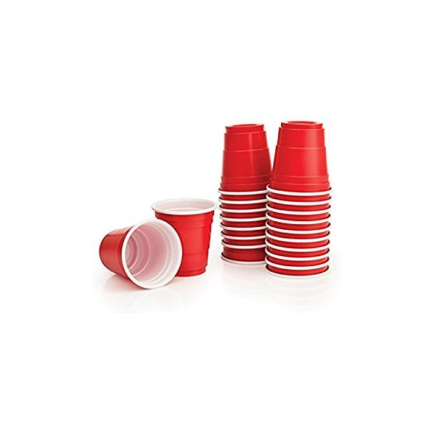 Red American Party Cups 16oz / 455ml  50 stk