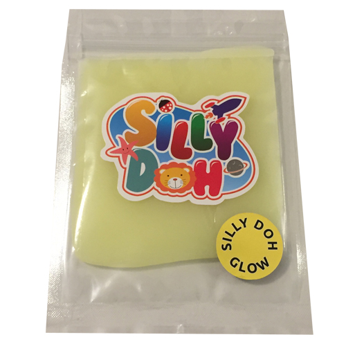 Image of   50 g glow Silly Doh (vælg farve) Klar farve