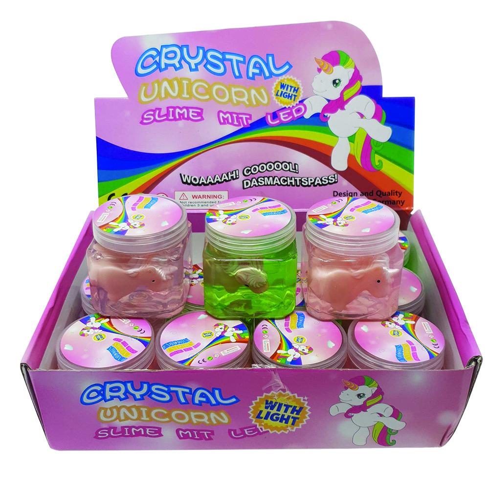 Billede af Crystal Unicorn Slime med LED (køb 3 stk. betal for 2 stk.)