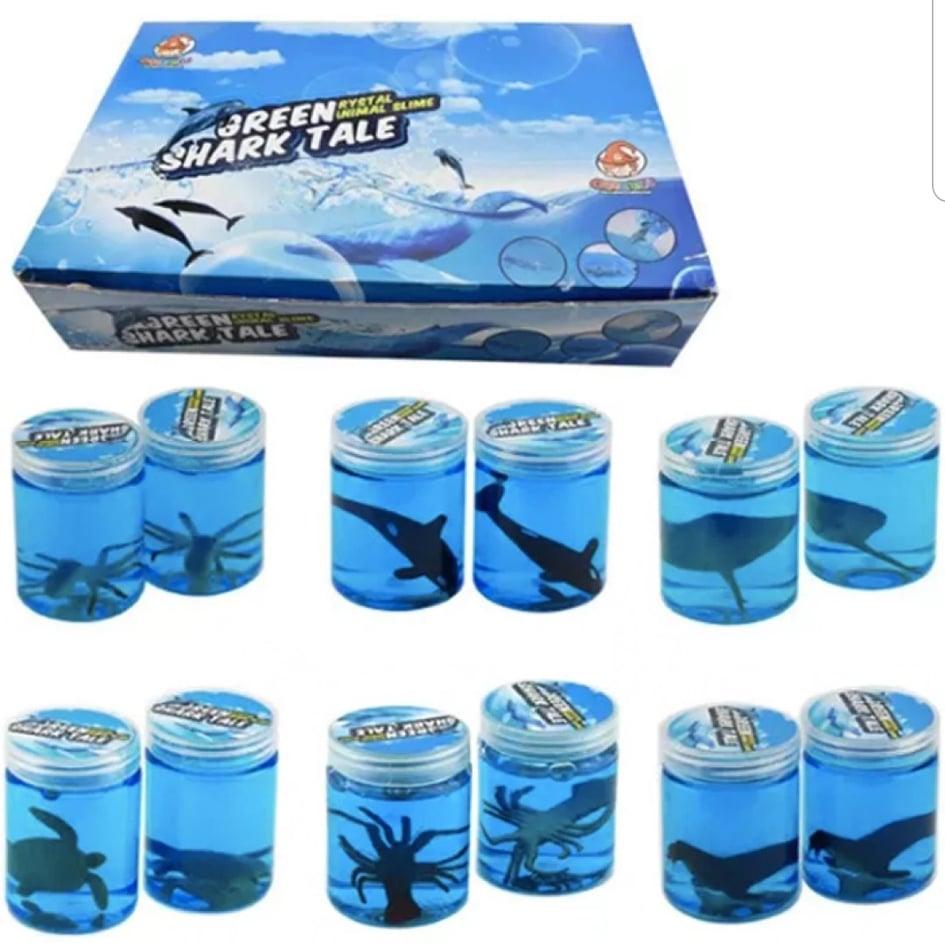 Billede af Blue Shark Tale Crystal Slime (køb 3 stk. betal for 2 stk.)