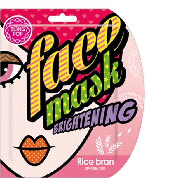 BLING POP Rice Bran Brightening Mask