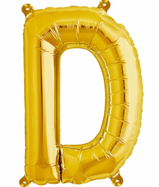 Image of   D bogstavsballon - guld (40 cm) 40 cm