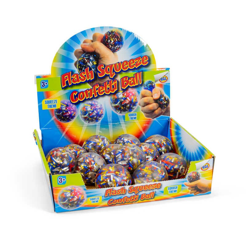 SQUEEZE RIBBON BALL LIGHT UP