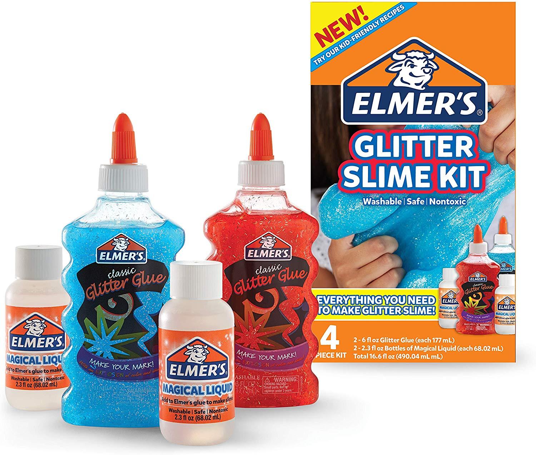 Image of   Elmer's GLIMMER slime starterkit med 4 dele