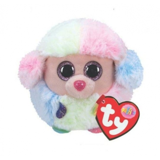 TY bamse - Puffies - Puddel ved navn Rainbow