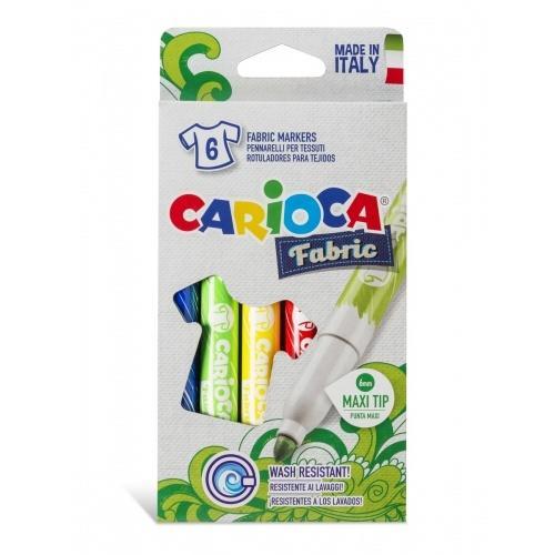 Image of   Carioca farve tusser til tøj / tekstil (6 stk)