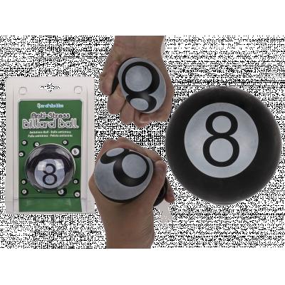 Fidget Toys: Anti Stress Billiard Kugle, Sort - Ca.6,5 cm
