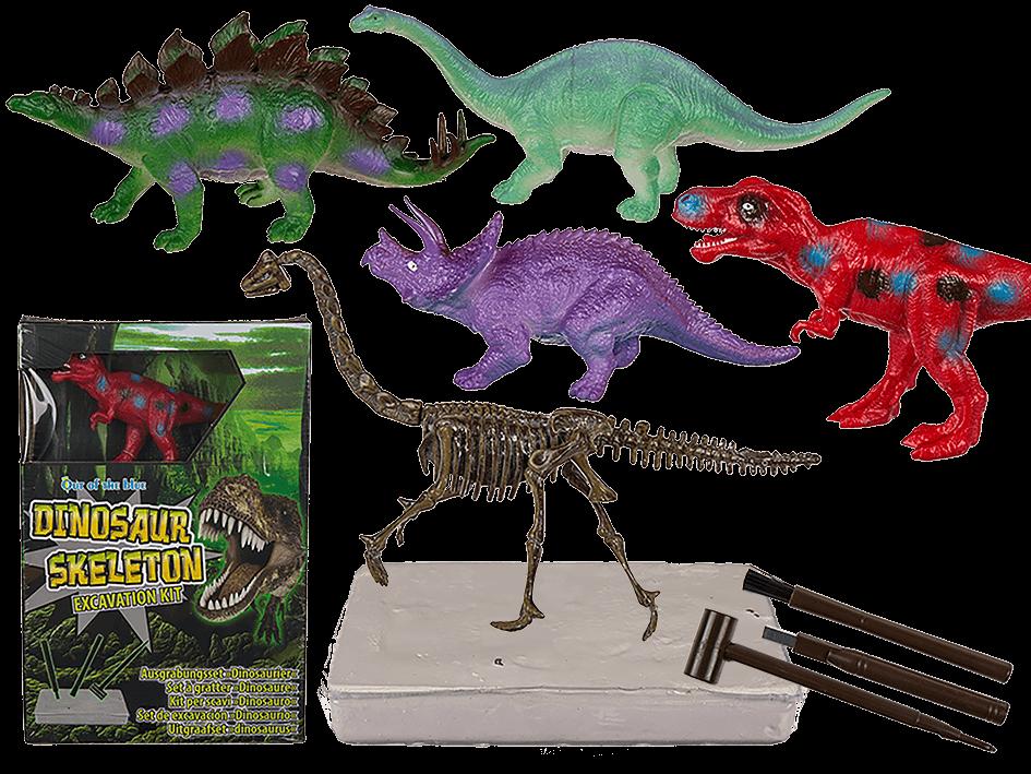 Image of Dinosaur skeleton udgravning kit