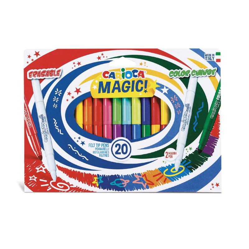 Image of   Carioca MAGIC farve tusser (20 stk)